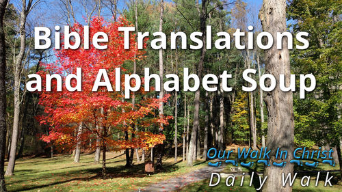 Bible Translations and Alphabet Soup | Daily Walk 10