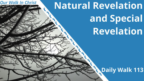 Natural and Special Revelation | Daily Walk 113